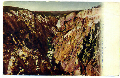 "Yellowstone Nat'l Park: ""Canyon Artist's Point ""- Haynes ""Blue Letter"" UDB 1906"