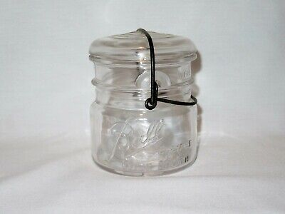 Vintage BALL Eclipse Wide Mouth PINT Canning Jar with Glass Lid