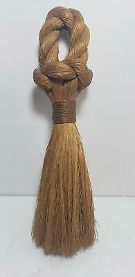 Old Nautical Hand Made Sailors Brush-Wisk-From Rope-Primiative-10In-Folk Art