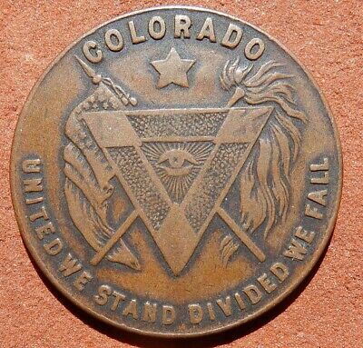 Vintage TOKEN ⚜️ COLORADO United We Stand/Divided We Fall