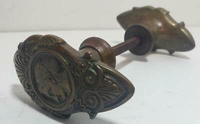 Antique Door Knob-Victorian?Brass? Figural Womans Face-Nr!