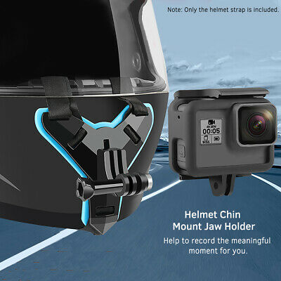 Motorcycle Full Face Helmet Camera Sturdy Chin Mount GoPro Hero Action Sports