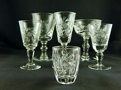 Crystal Pinwheel Shot Glass And Other Miscellaneous Pieces