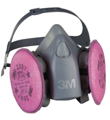 3M 7500 7501/37081 Series Respirator - Small 2097 Filters Are Included USA Made