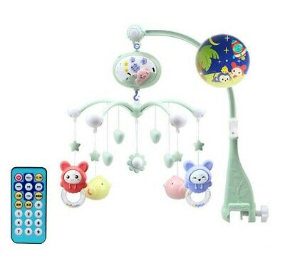Musical Soothing Melodies Baby Crib Mobile Bell Toy With 21 Keys Remote Control.