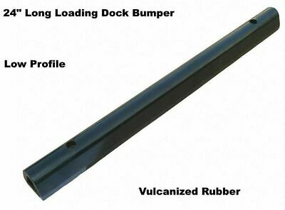 "LOADING DOCK BUMPER Low Profile 24"" Long Rubber Truck Dock Trailer Wall Protect"