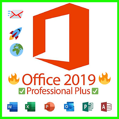 Microsoft Office 2019 Professional Plus 32/64 Bit✔️ 100% Genuine Key🔑Official