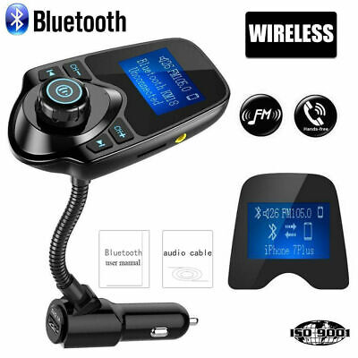 In-Car Bluetooth Car Kit Wireless FM Transmitter USB Charger Radio Adapter