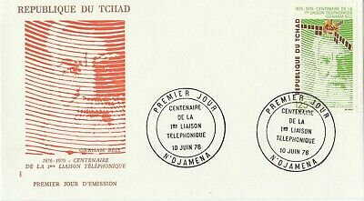 Postage Stamps CHAD First Day Cover Centenary of The Telephone 1976