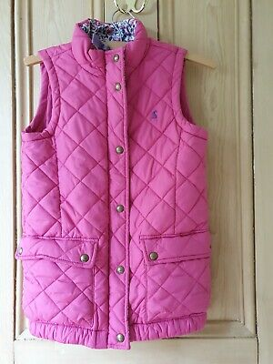 JOULES Padded Pink Junior Lowen Gilet With Pockets Girls Aged 11-12 Years
