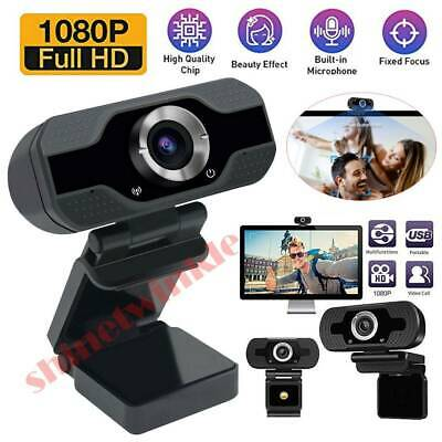Full HD 1080P Webcam Video Camera With Microphone USB for PC Desktop Laptop OS