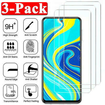 3Pcs For Xiaomi Redmi Note 9S 9 8 Pro 8T 8A Tempered Glass Screen Protector Film