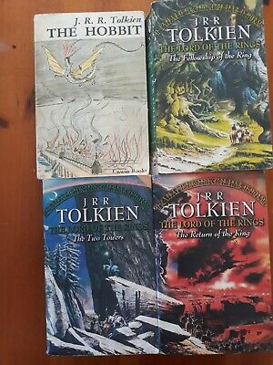 JRR Tolkien The Hobbit & Lord of the Rings Trilogy, 4 paperbacks collection only