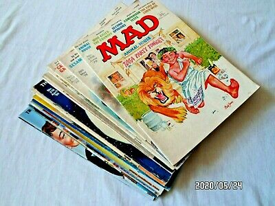 MAD MAGAZINES 1970s 1980s - JOB LOT - See more images.