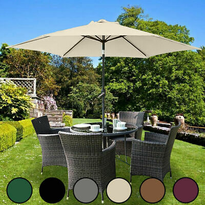 Garden Parasol 2.5m Sun Shade Outdoor Patio Umbrella Crank & Tilt - More Colours
