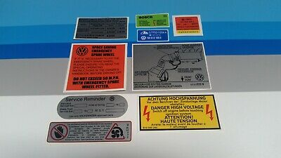 GOLF MK2 8v GTI RESTORATION / REFURBISHMENT STICKER DECAL SET x 9 VW LABELS