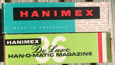 hannimex slide magazines with retaining clips x 2