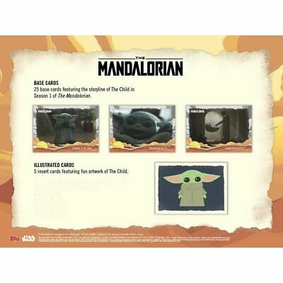 2020 Topps Star Wars The Mandalorian Journey Of The Child Complete (30) Card Set