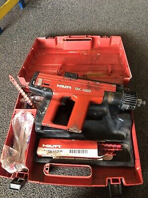 Hilti DX450 Cordless Nail Gun with Box Of Nails & Case