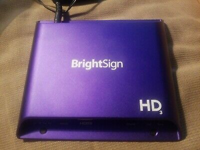 BrightSign HD223 Digital Networked Media Player Signage Controller Looping video