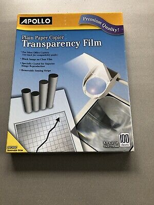 75 sheets Apollo Overhead Transparency Film  overhead projector