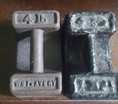 Vintage Cast Iron Weights 2 X 4lb