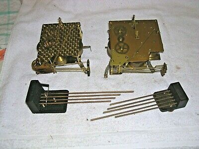 Clock  Parts , 2  Movements  4 & 5 Hammers,+ Chimes,Spares Or Repair
