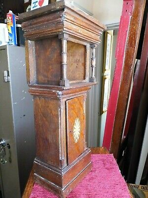 Antique Victorian Miniature Longcase Grandfather Clock Case