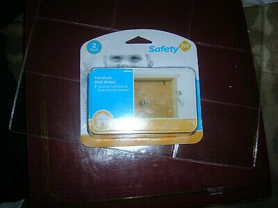 Safety First 1st Furniture Wall Straps 2 pack Baby Infant Safe Prevents Tipping