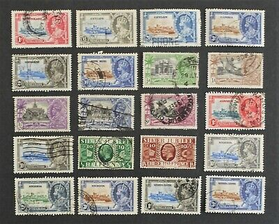 1935 silver jubilee collection of 20 stamps used