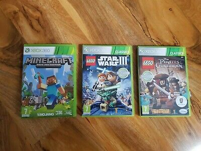 xbox 360 Kinect games Minecraft, Star Wars III , Pirates of the Caribbean