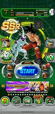 Dokkan Battle Global Fresh with LR Goku and Frieza AND 1,000+ Dragon Stones
