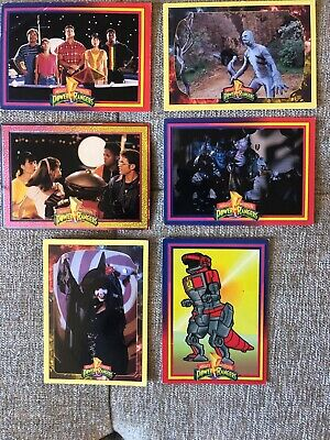 Mighty Morphin Power Rangers Trading Cards (6 Cards)
