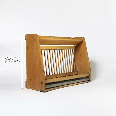 Early 20th Century Single Tier Plate Rack with Drip Tray and Cup Rack