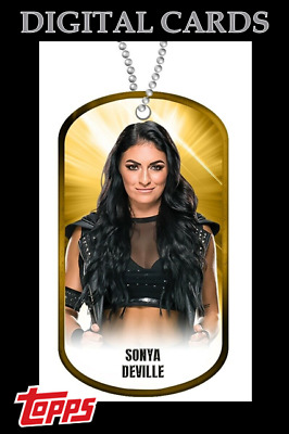 2020 DOG TAGS DROP 1 GOLD SONYA DEVILLE TOPPS WWE Slam Digital Card