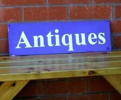 Enamel Sign Antiques - Advertising Vintage Retro Shop Used Display Antique Sign
