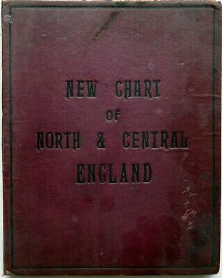 Bacon's New Chart of NORTH & CENTRAL ENGLAND c 1910