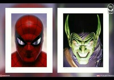 Sideshow Collectibles  Spider-Man Green Goblin Portraits Art Print 69/150 ☆NEW☆