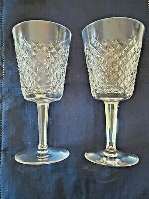 "Waterford  Crystal ""Alana"" Water Goblet Glass (S) 7""  Tall Mint"