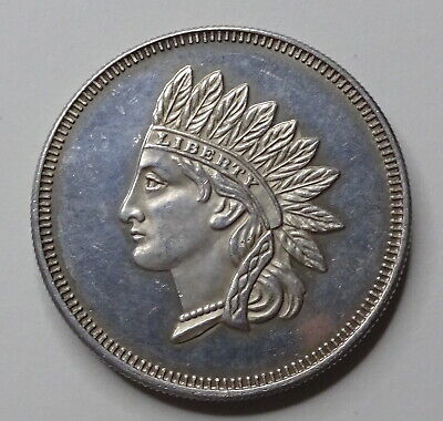 """1 Oz. Silver """"Indian Head"""" Round .999 - No Reserve!"""
