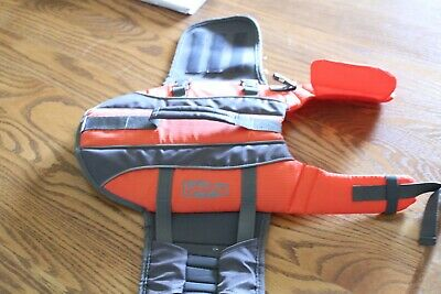 Dog Life Jacket Pet Swimming Vest Safety Preserver Outdoor Rescue Puppy  SMALL
