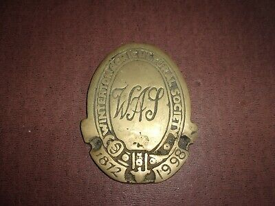 WINTERTON AGRICULTURAL SOCIETY  Horse Brass - 1872 - 1998