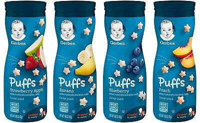 Gerber Graduates Puffs Variety 4 Pack Baby Cereal Snacks