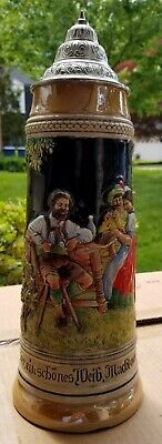 """14"""" Tall German Beer Stein - Great condition"""