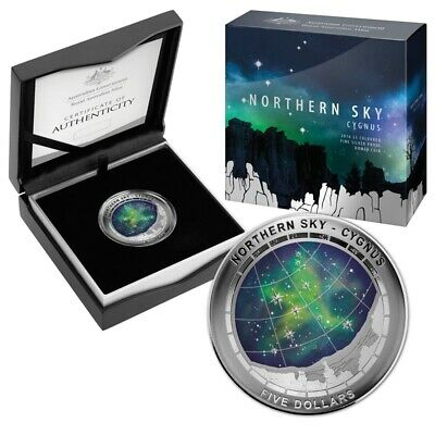 2016 Northern Sky - CYGNUS 1 oz Domed Silver Proof Coin AUSTRALIA SOLD OUT