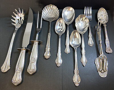 Lot Vtg Antique Silverplate Serving Pieces weddings crafts catering banquet