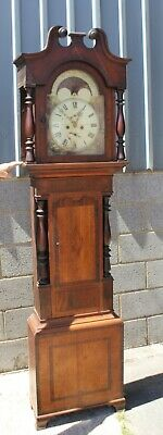 A Victorian Mahogany and Oak cased 8 day Grandfather Clock.