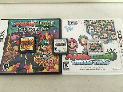 Mario and Luigi GAME Bundle (Dream Team, Partners in Time & Bowsers Inside story