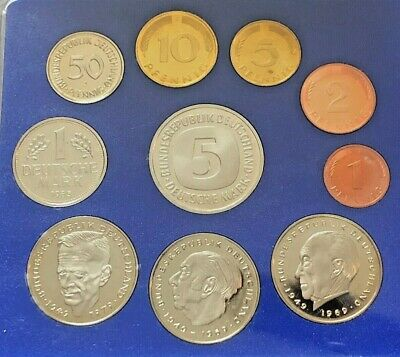 1985 J West Germany 10-Coin Proof Set 1985