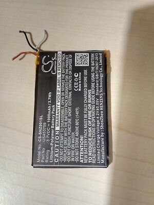 Battery 1000mAh Li-po for Sony Walkman NWZ-ZX1, US453759